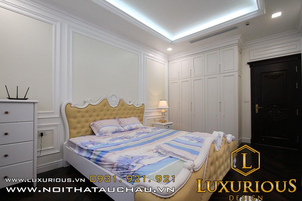 thiết kế nội thất phòng ngủ biệt thự tân cổ điển