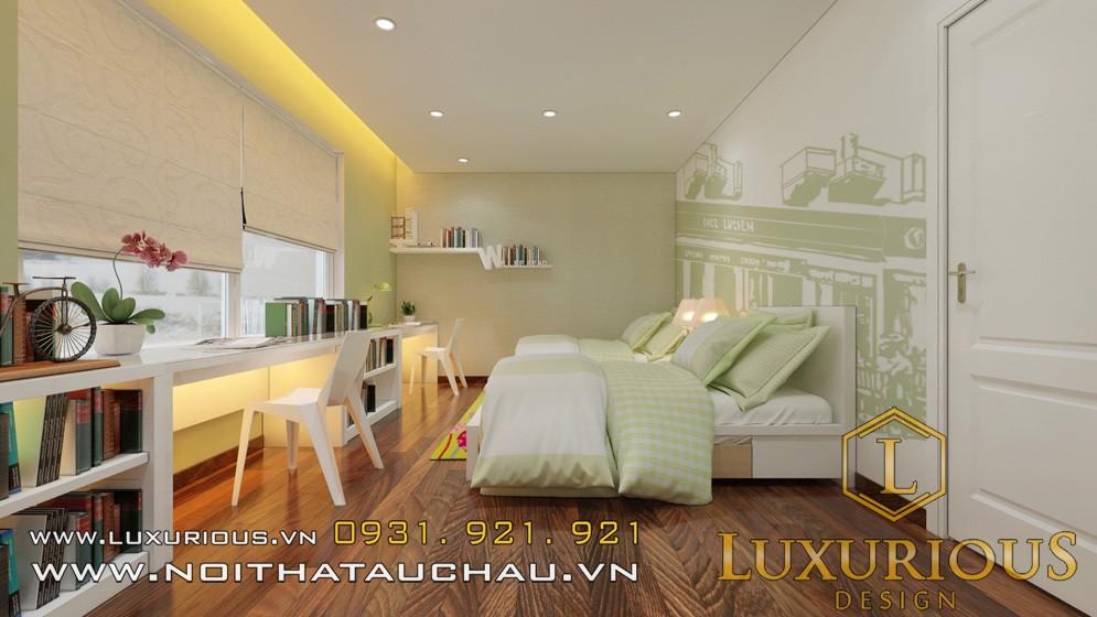 Mẫu thiết kế nội thất nhà biệt thự Vinhomes Long Biên Hà Nội