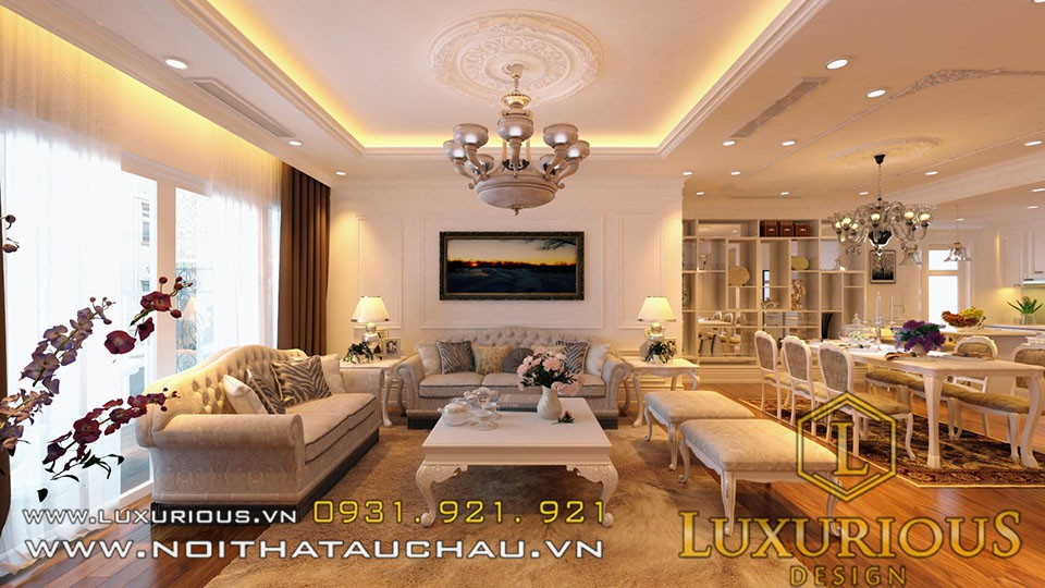 Mẫu phòng khách chung cư golden palace