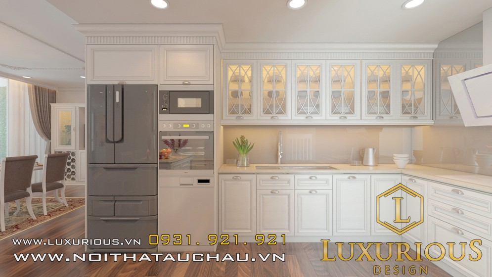 Phòng bếp tân cổ điển ecopark