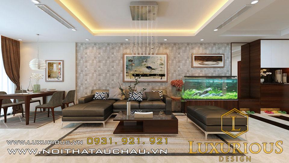 Mẫu thiết kế phòng khách chung cư Platium