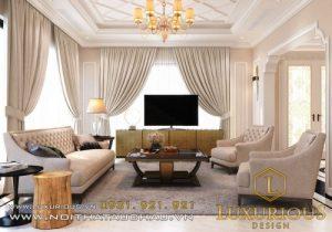Thiết kế thi công nội thất biệt thự Starlake tân cổ điển lộng lẫy