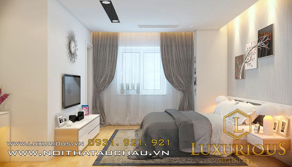 Mẫu phòng ngủ master chung cư
