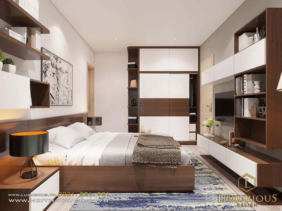 Mẫu phòng ngủ chung cư đẹp