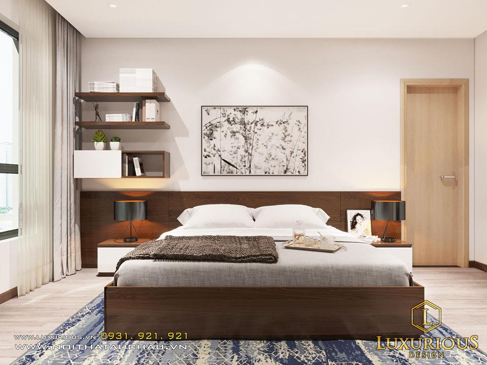 Mẫu phòng ngủ chung cư hiện đại