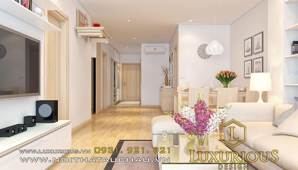 Mẫu thiết kế phòng khách chung cư
