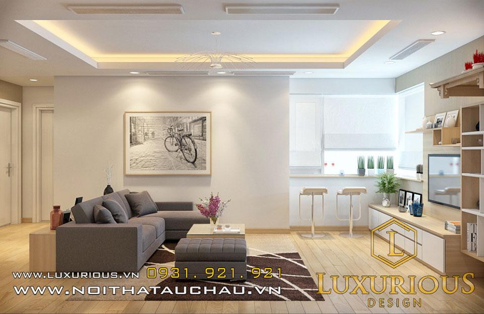 Phòng khách chung cư golden palace phong cách hiện đại