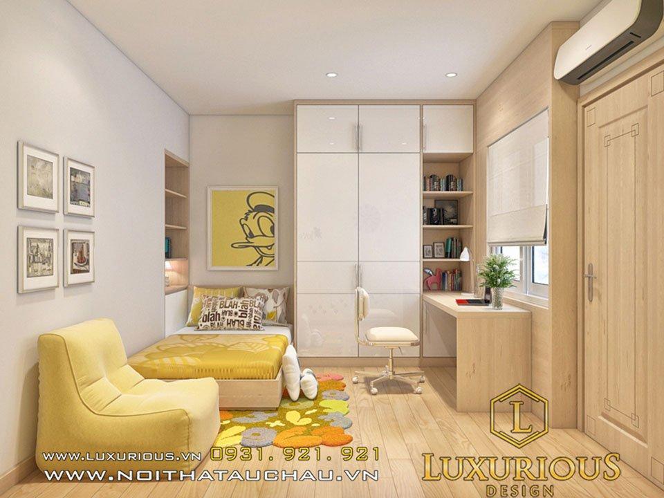 thiết kế chung cư parkhill phòng ngủ cho con