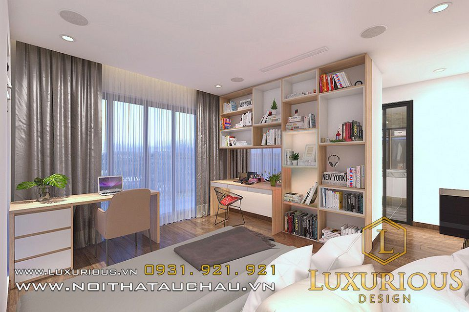 Mẫu thiết kế nội thất phòng ngủ biệt thự Mimosa Ecopark