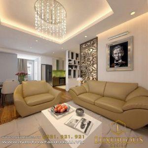 Thiết kế nội thất phòng khách nhà chung cư bộ công an