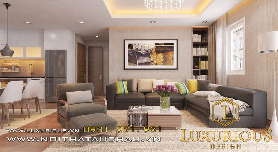 Thiết kế nội thất phong cách châu Âu chung cư Golden Palm - MR Đức