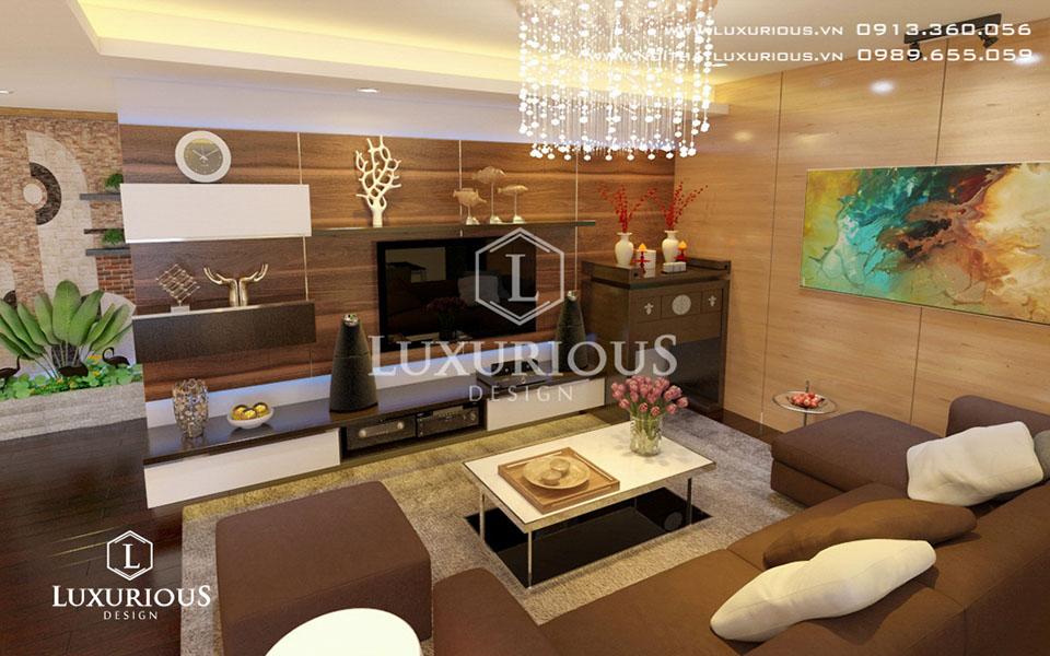 Phòng khách chung cư sang trọng