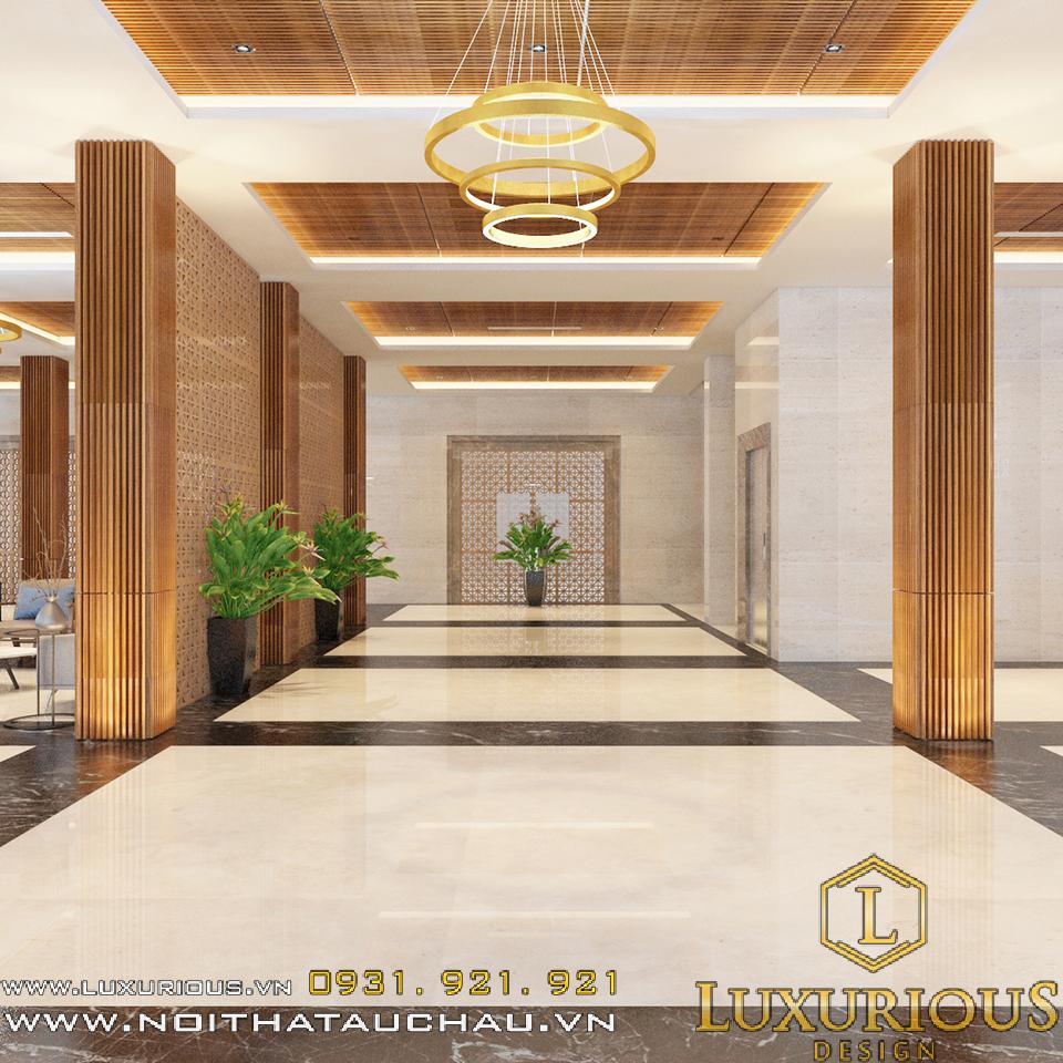 Thiết kế sảnh khách sạn redstar hotel ở Hải Dương