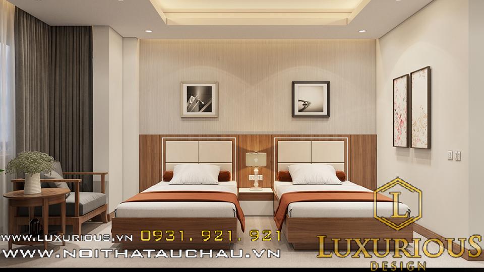Thiết kế nội thất phòng ngủ khách sạn Hải Dương