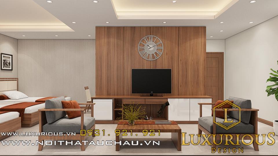 Thiết kế nội thất phòng khách khách sạn Hải Dương