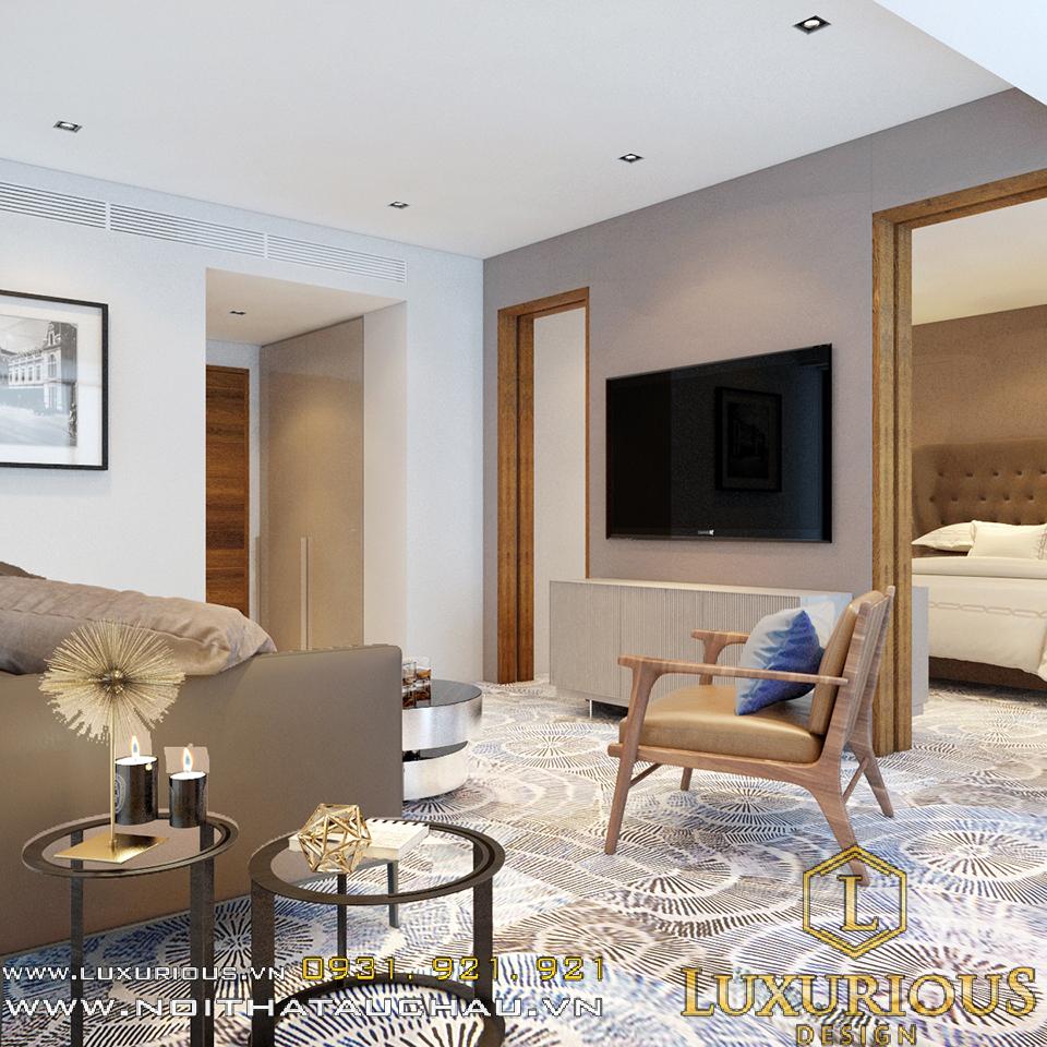 Mẫu thiết kế nội thất phòng khách khách sạn cao cấp
