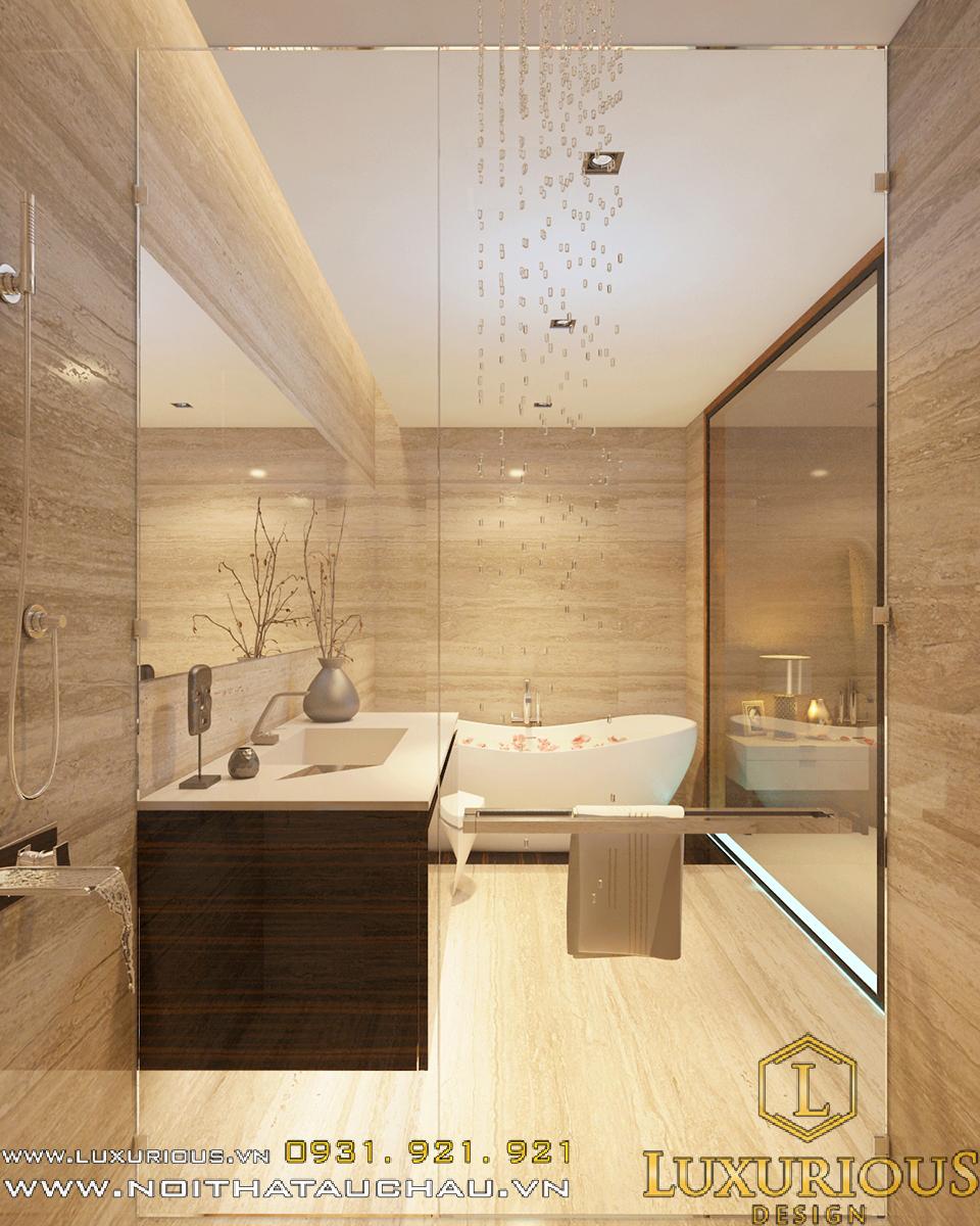 Mẫu thiết kế nội thất phòng WC khách sạn