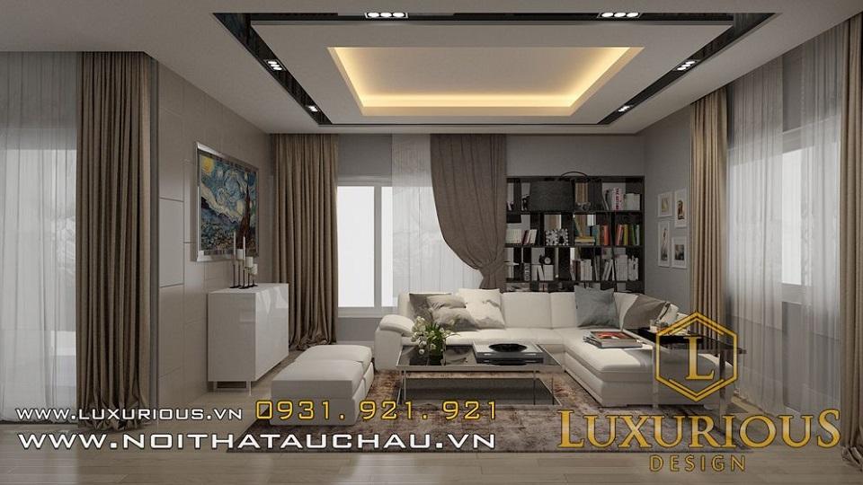 Thiết kế nội thất phòng khách biệt thự vườn mai ecopark