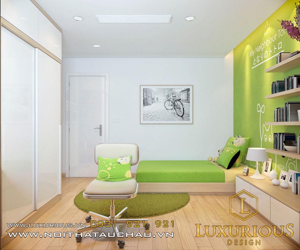Thiết kế phòng ngủ chung cư cho con trai