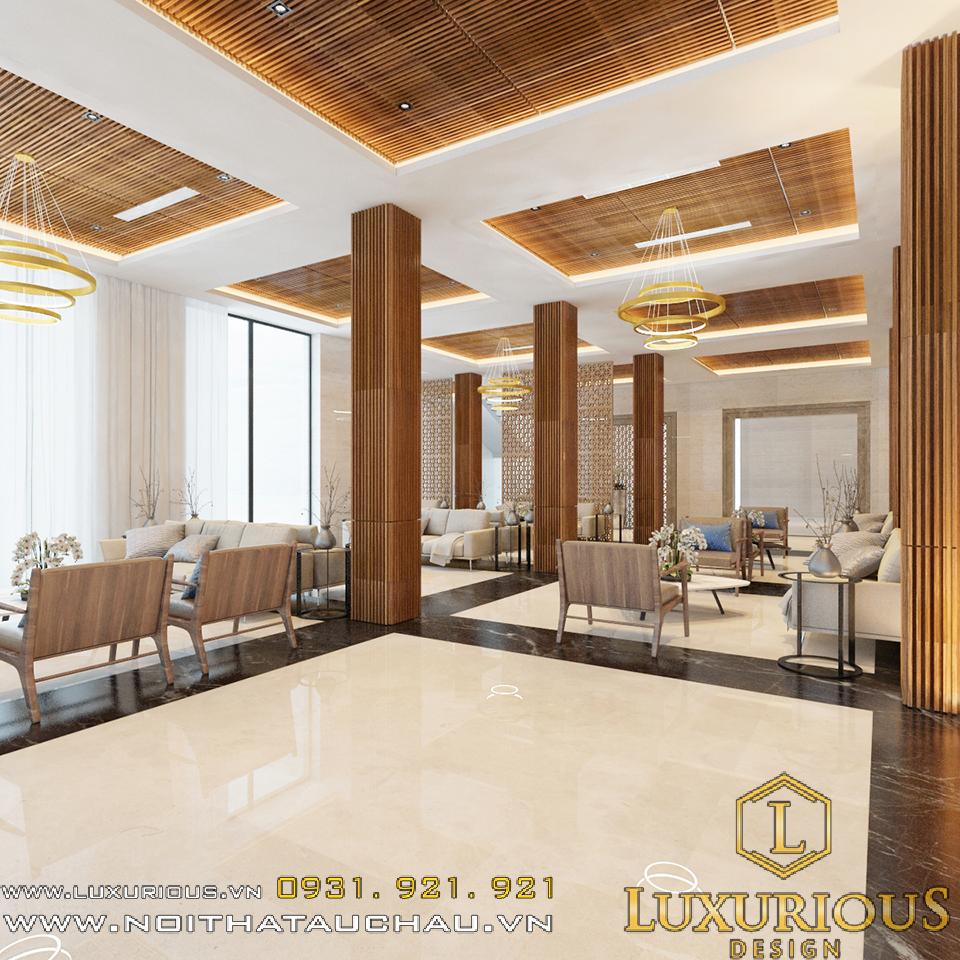 Thiết kế nội thất phòng khách sạn 5 sao đẳng cấp sang trọng