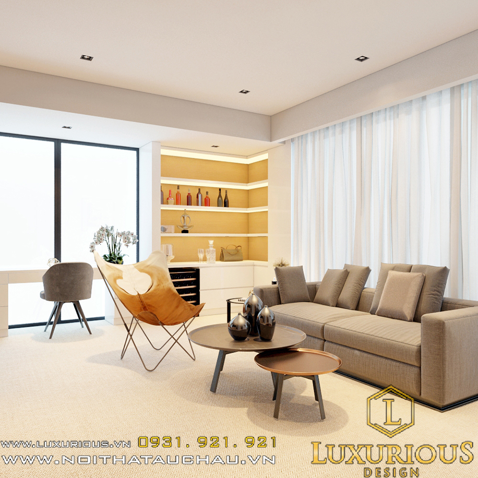 Thiết kế nội thất phòng khách sạn 5 sao đẳng cấp