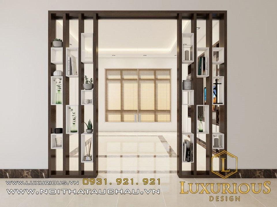 Mẫu thiết kế nội thất phòng khách biệt thự Chí Linh Hải Dương