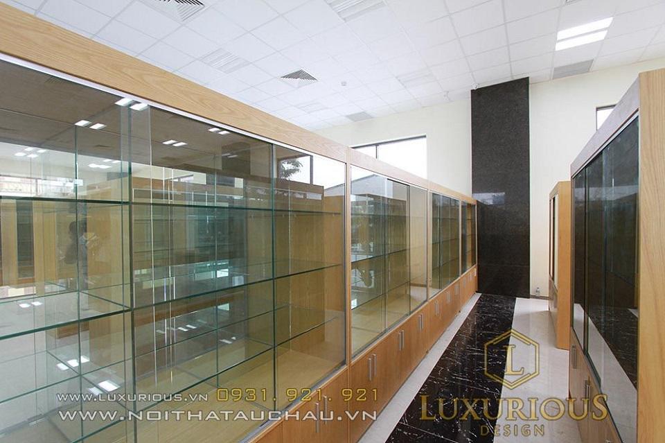 Hình ảnh thi công nội thất thực tế bệnh viện Sao mai