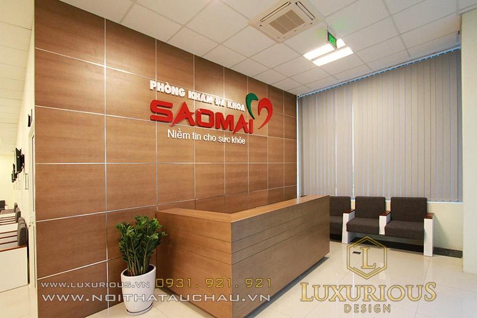 Thiết kế thi công nội thất bệnh viện Sao Mai