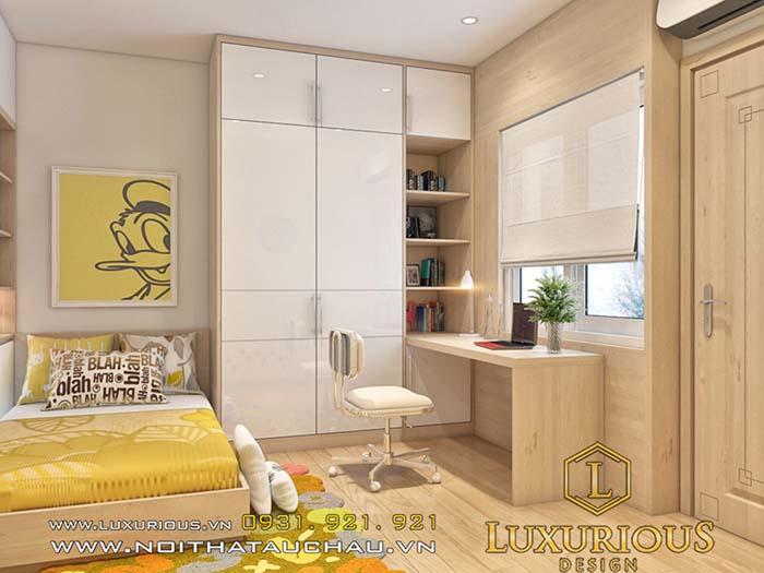 Mẫu phòng ngủ cho con chung cư 70m2