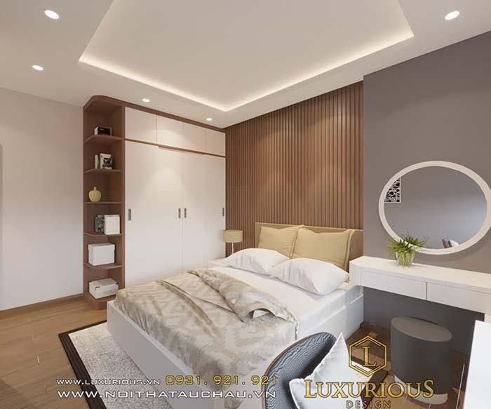 Mẫu phòng ngủ chung cư 70m2 2 phòng ngủ