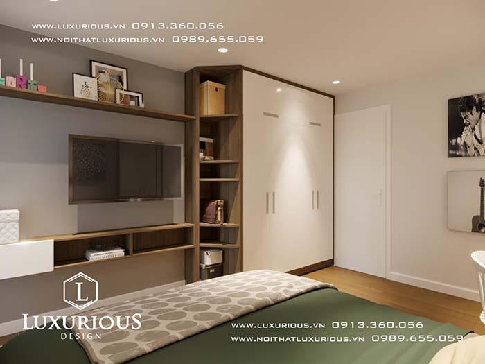 Phòng ngủ chung cư 70m2 đẹp