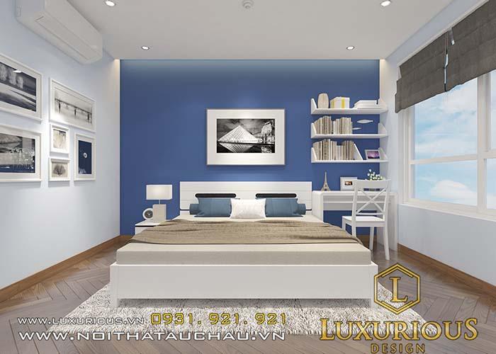 Phòng ngủ cho vợ chồng trẻ chung cư 70m2