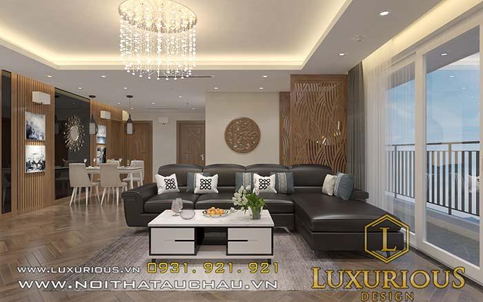 Thiết kế nội thất chung cư 70m2 phòng khách