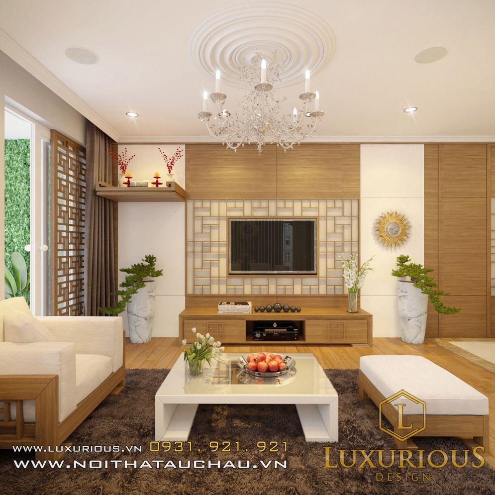 Mẫu thiết kế nội thất phòng khách chung cư Hà Đô