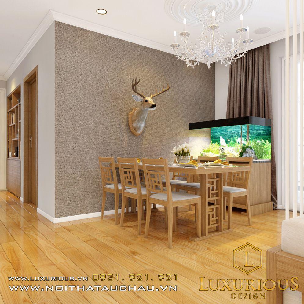 Mẫu thiết kế nội thất phòng bếp chung cư Hà Đô