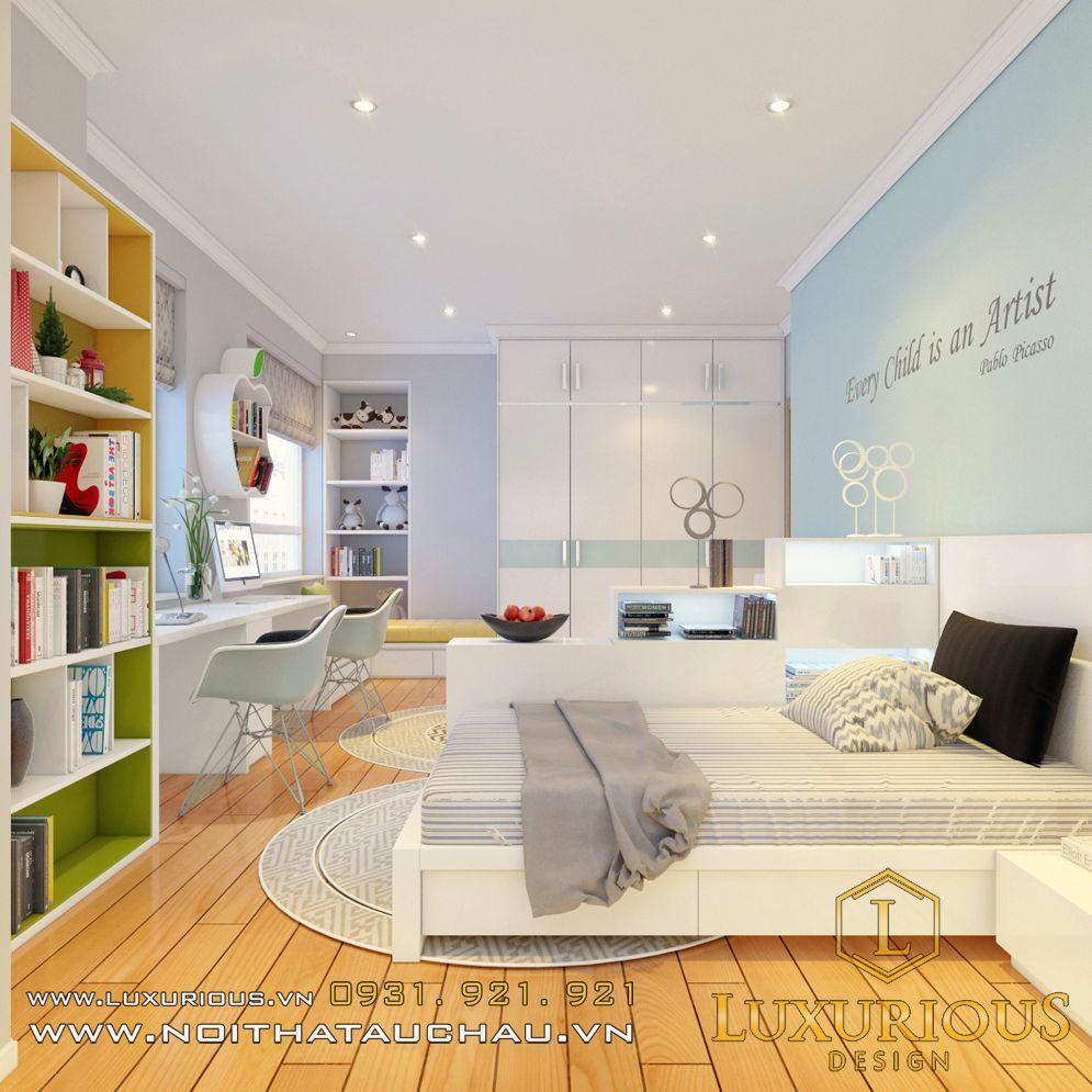 Mẫu thiết kế nội thất phòng ngủ chung cư Hà Đô