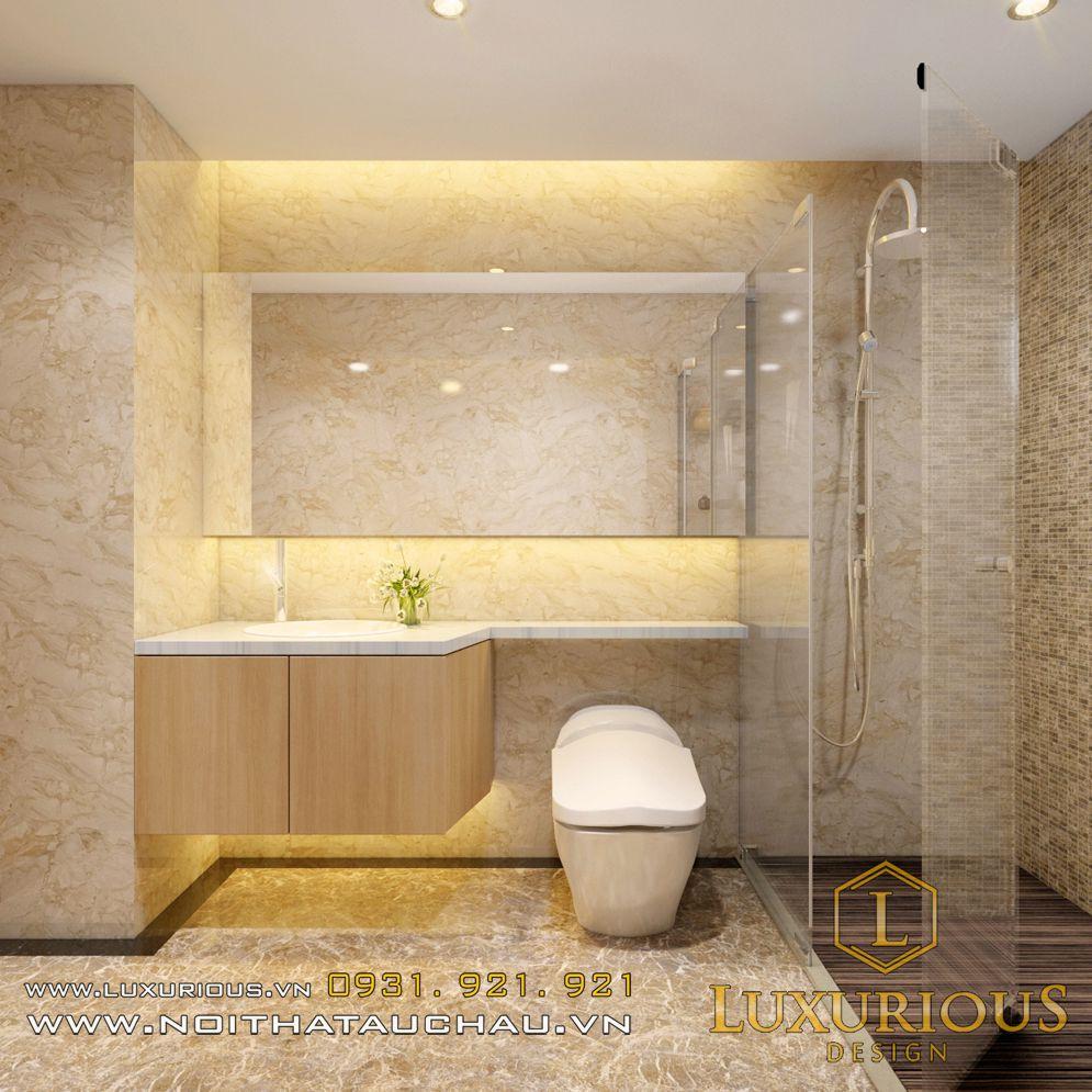 Thiết kế nội thất phòng WC chung cư Hà Đô