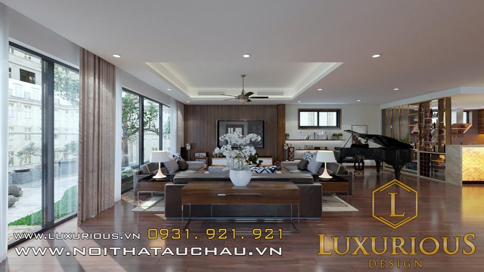 Mẫu nội thất phòng khách penthouse