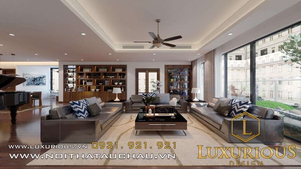 Mẫu nội thất penthouse biệt thự phòng khách