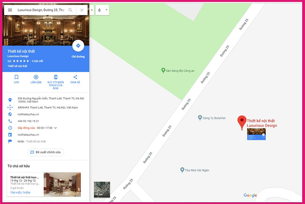 Google map luxurious