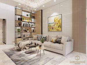 Thiết kế nội thất phòng khách nhà ống 4m
