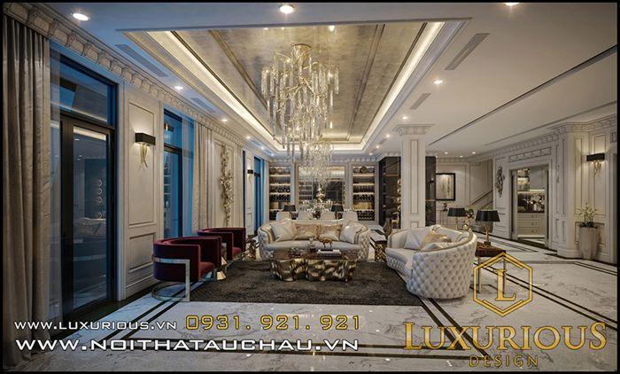 Mẫu thiết kế nội thất phòng khách châu âu