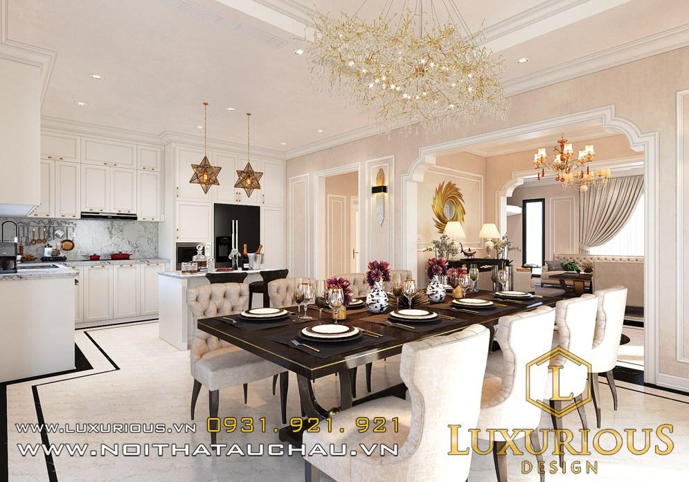 Mẫu nội thất phòng ăn biệt thự star lake