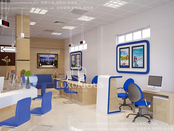 THiết kế nội thất văn phòng ngân hàng bidv