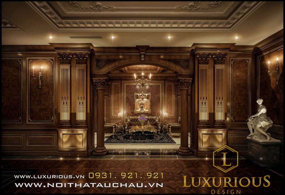 Phòng khách phong cách cổ điển đẹp