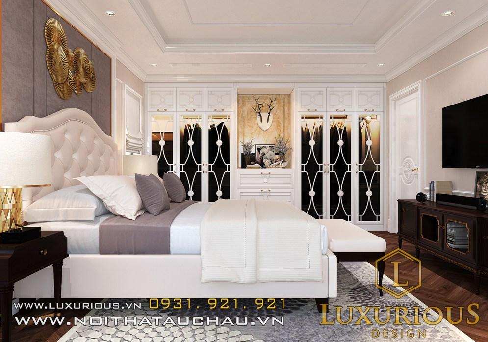 Mẫu phòng ngủ master biệt thự tân cổ điển