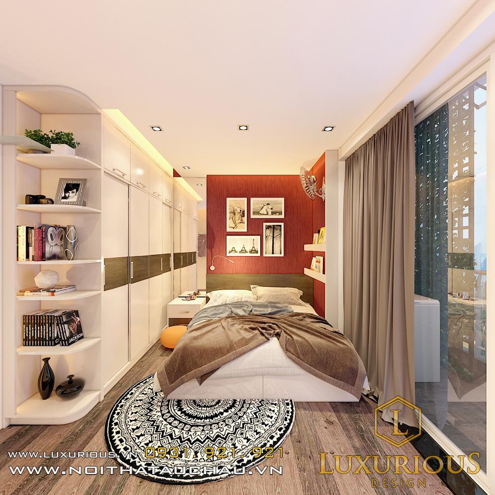 Mẫu thiết kế phòng ngủ Master chung cư Sky