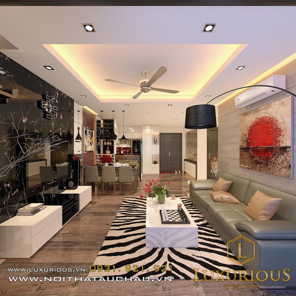 Thiết kế nội thất chung cư Sky