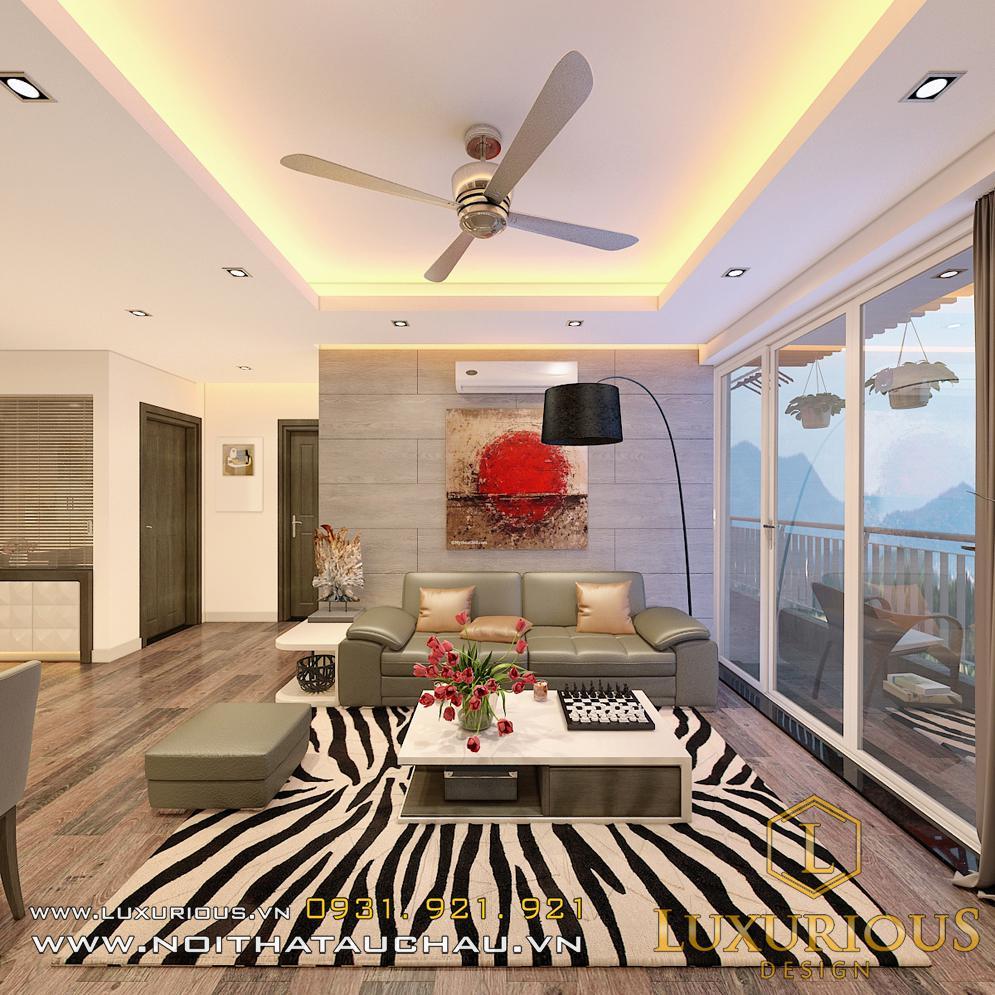 Thiết kế nội thất phòng khách căn hộ chung cư sky