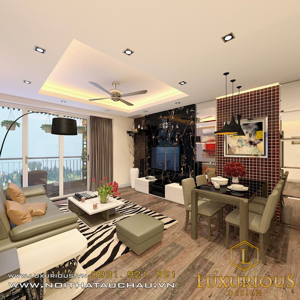 Phòng khách chung cư Sky hiện đại
